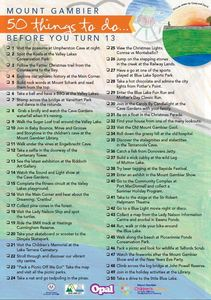 Mount gambier 50 things   checklist
