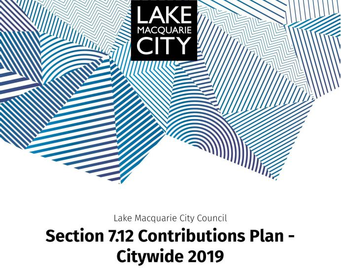 Draft 7.12 Contributions Plan