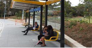Mona vale precinct b line bus stop