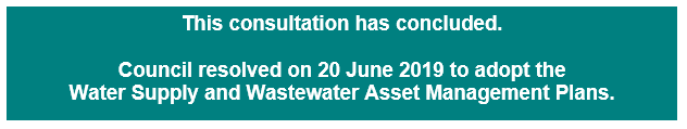 Draft Water Supply and Wastewater Asset Management Plans