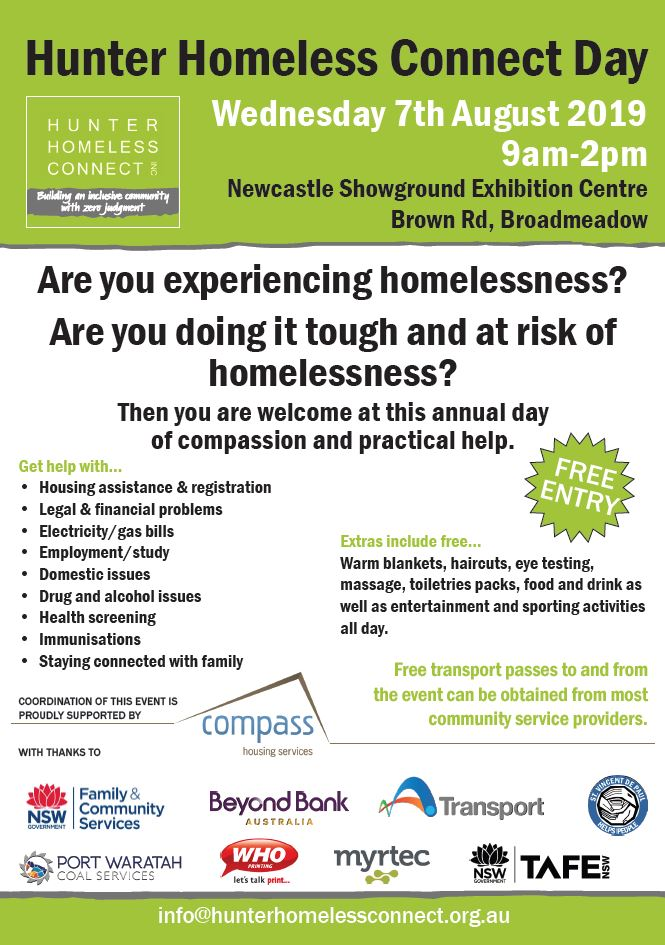 Hunter homeless connect day