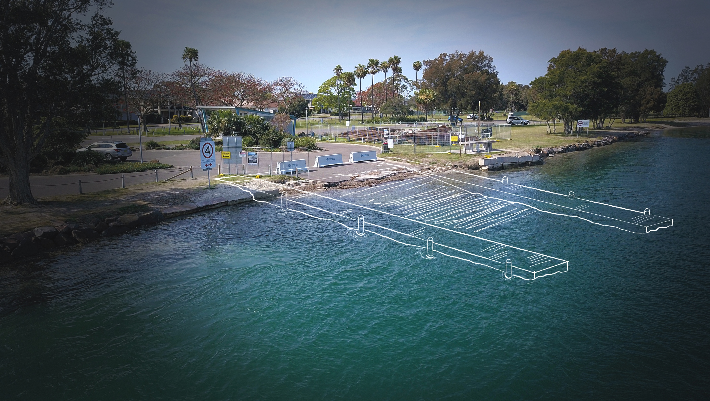 Pelican boat ramp   sketch of proposed design