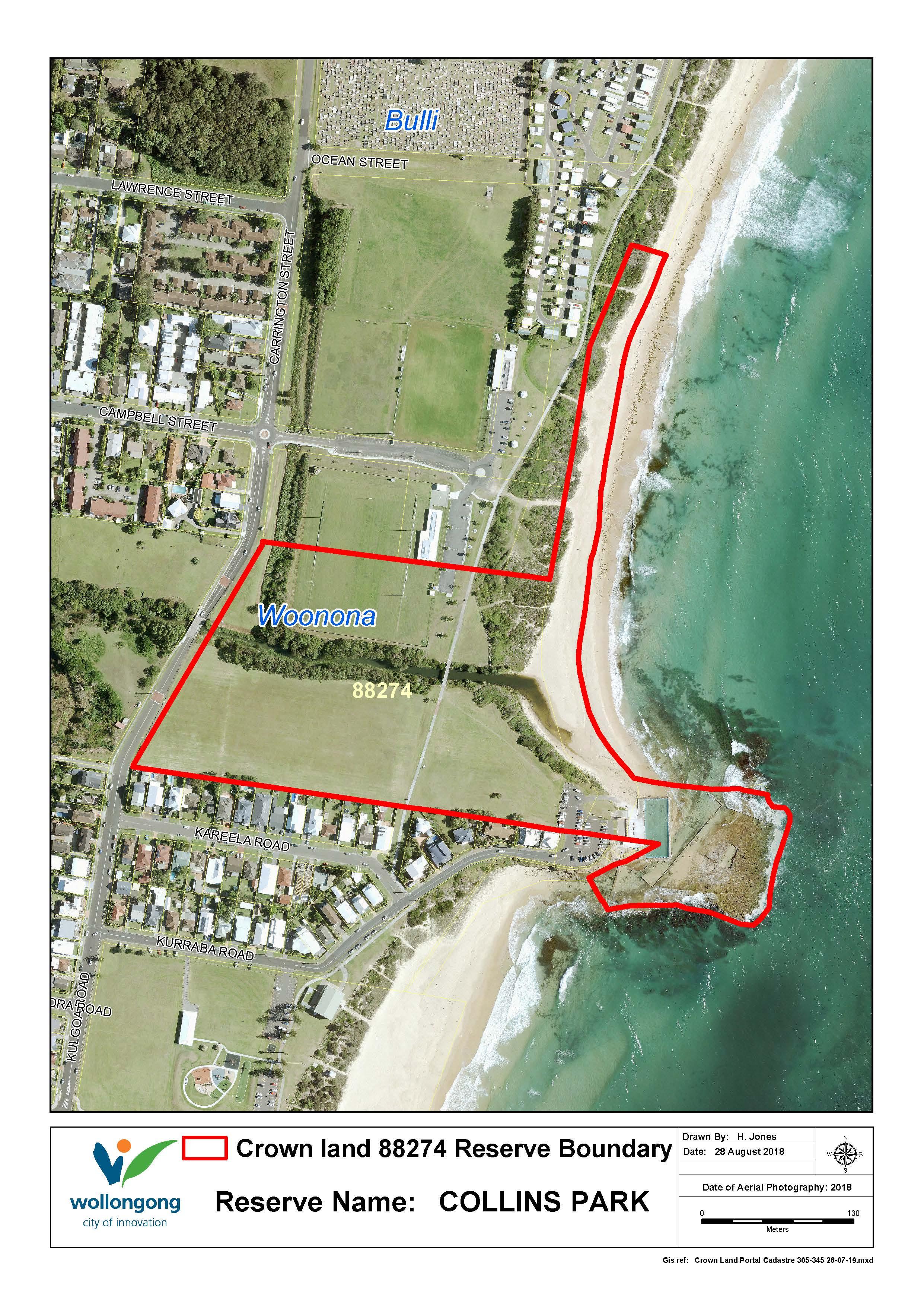 New collins park reserve 88274 map woonona