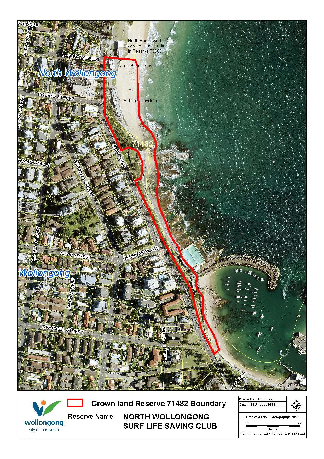 North beach surf club reserve 71482 map z19 91574