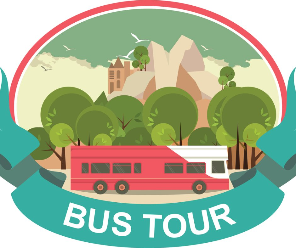 Bus tour label vector id525611489