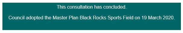 Master Plan for Black Rocks Sports Field