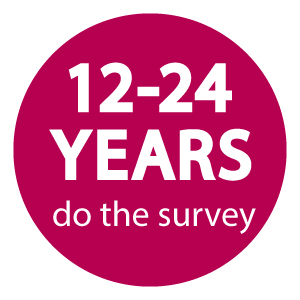 Button to take survey - for 12 to 24 years.