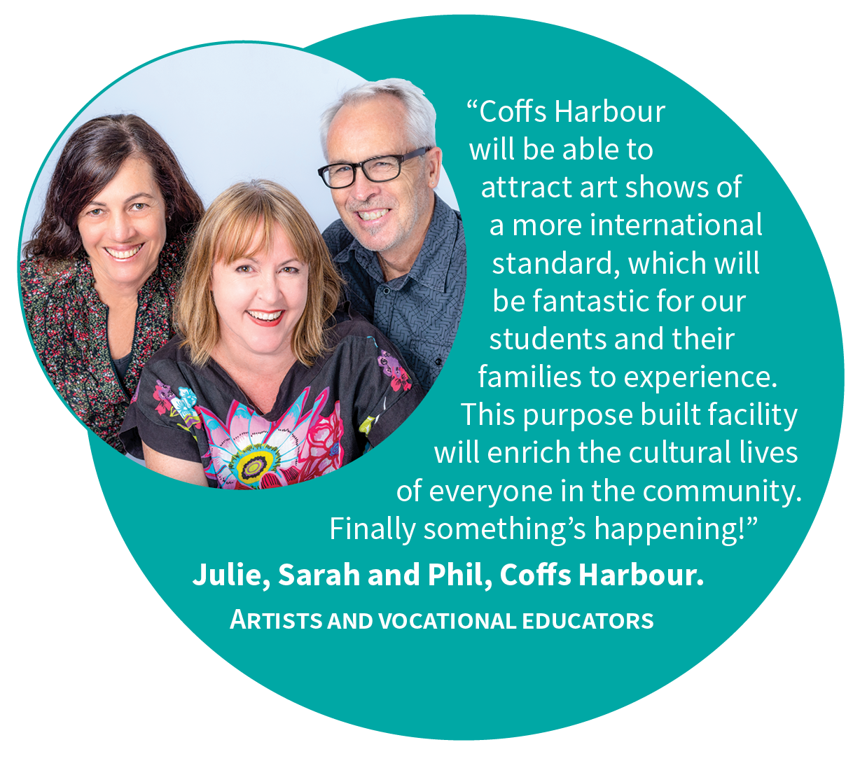 Cultural and Civic Space for Coffs Harbour - Artists and Educators