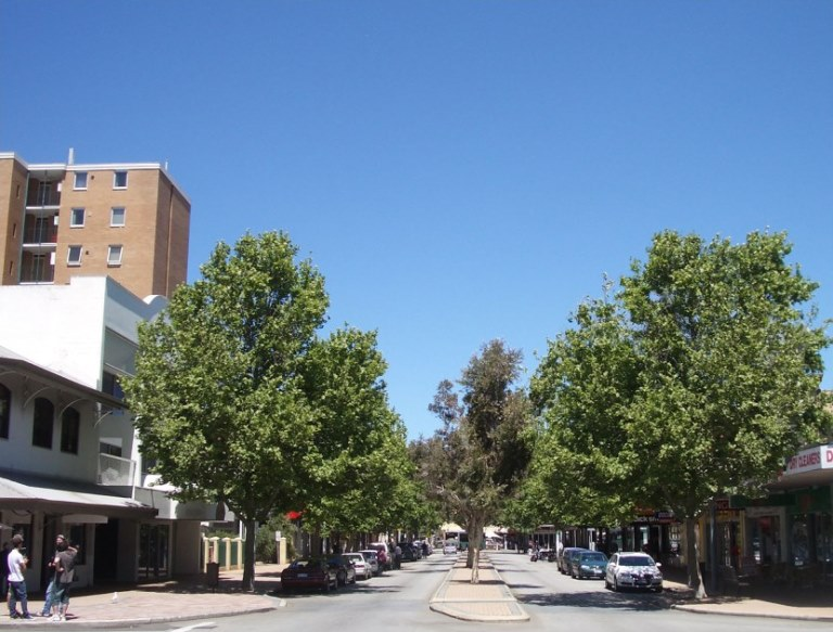 Adelaide Street existing view