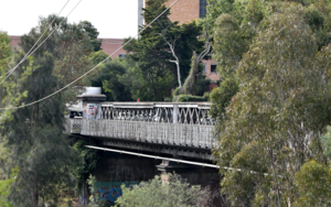 Chandler highway bridge over the yarra river