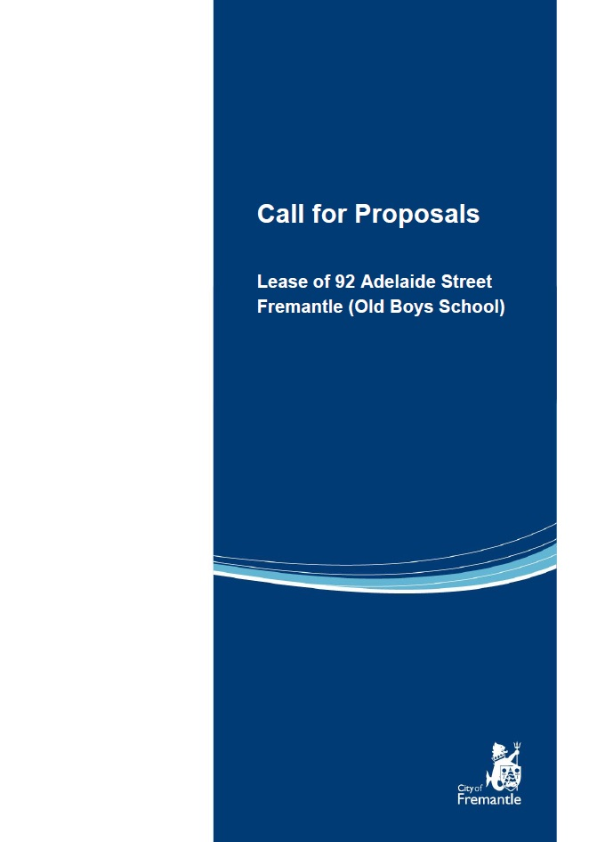 Call for Proposals Document