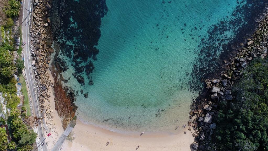 Areal view of a beach
