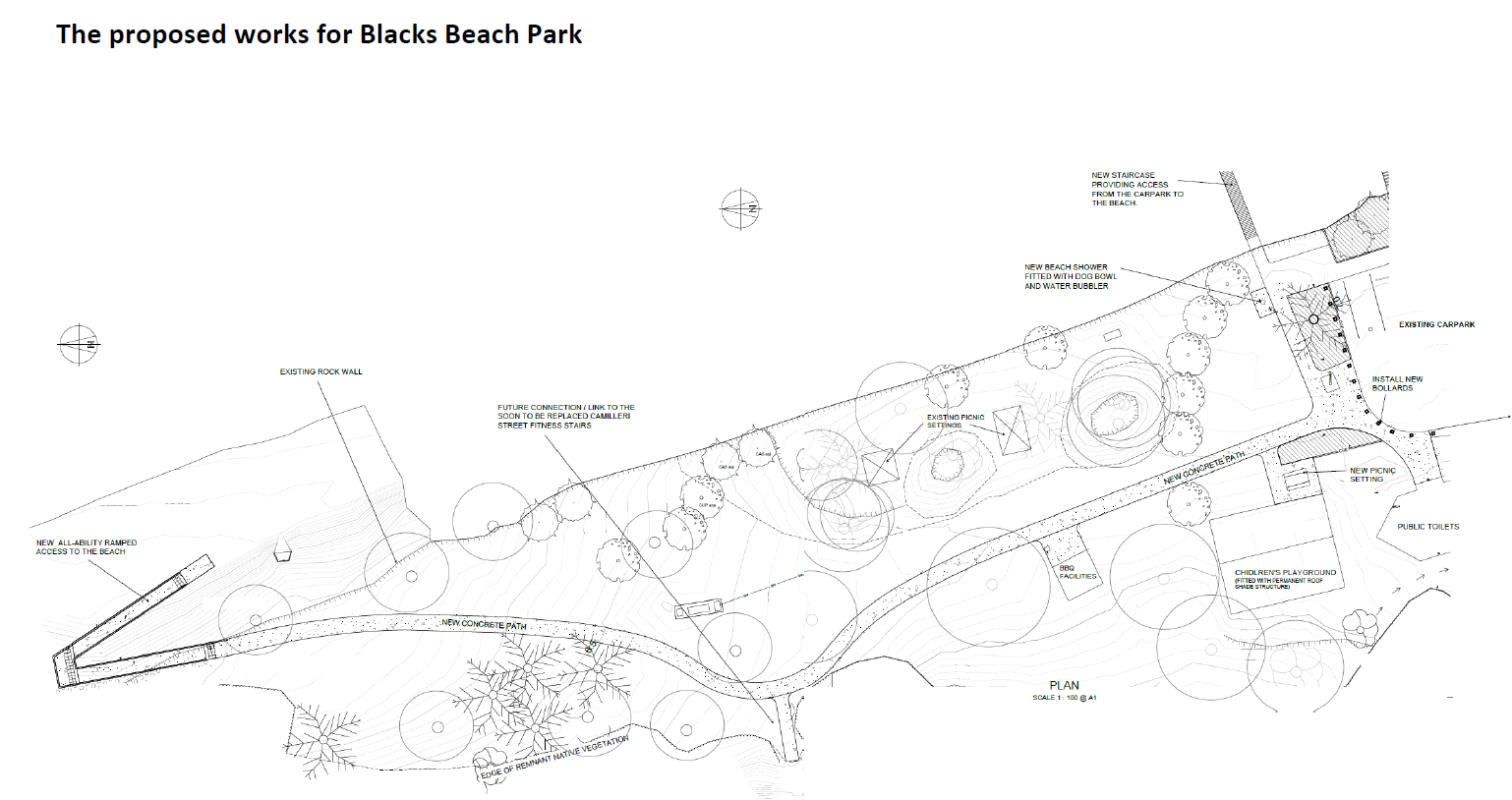 The design for the proposed works