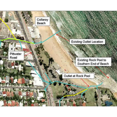 Collaroy Stormwater Outlet Location
