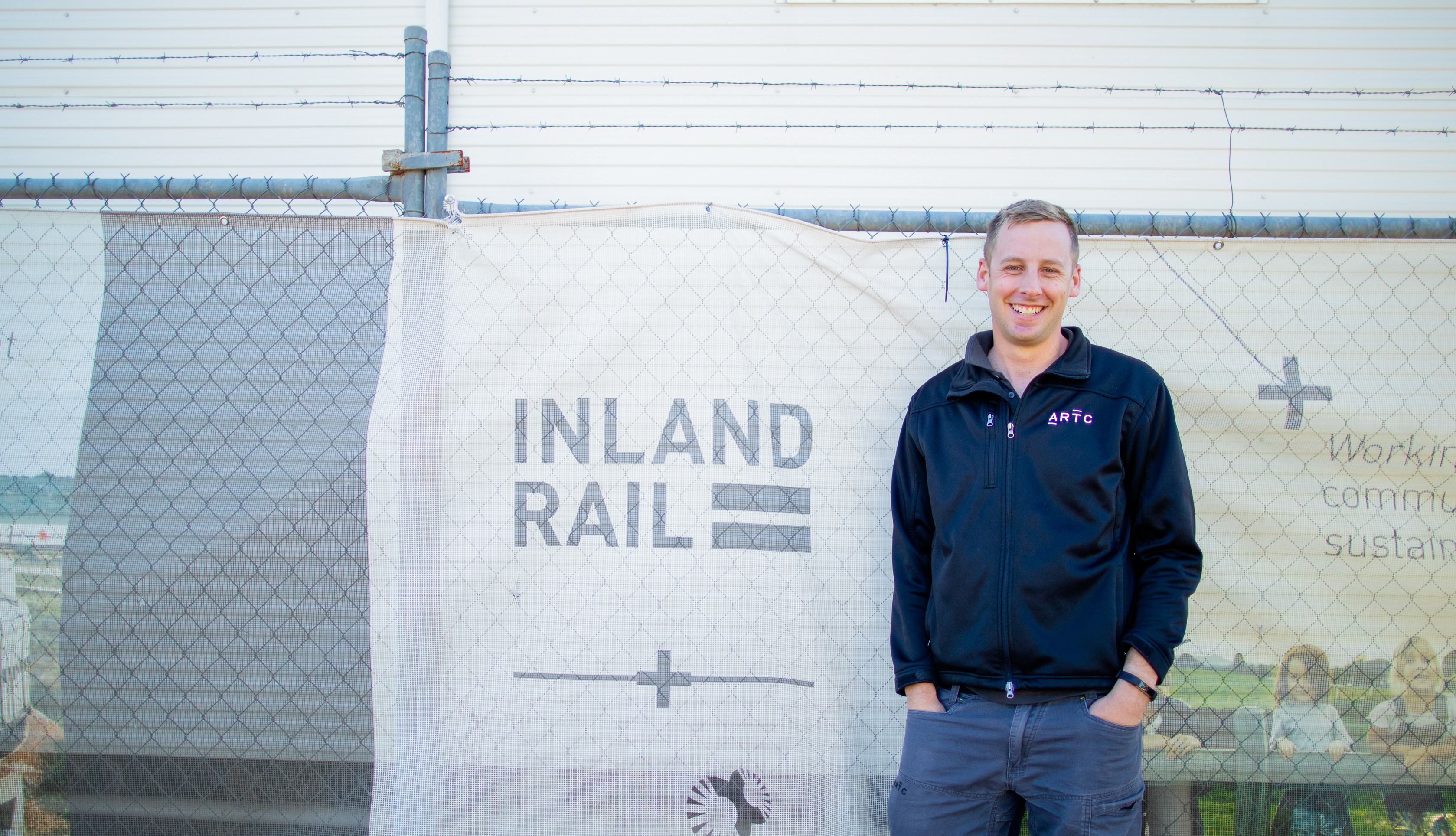 Image of Inland Rail team member near Parkes, NSW