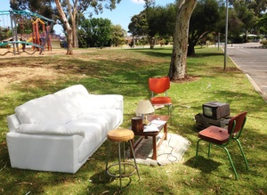 Hard waste lounge installation   flinders park oval 2013