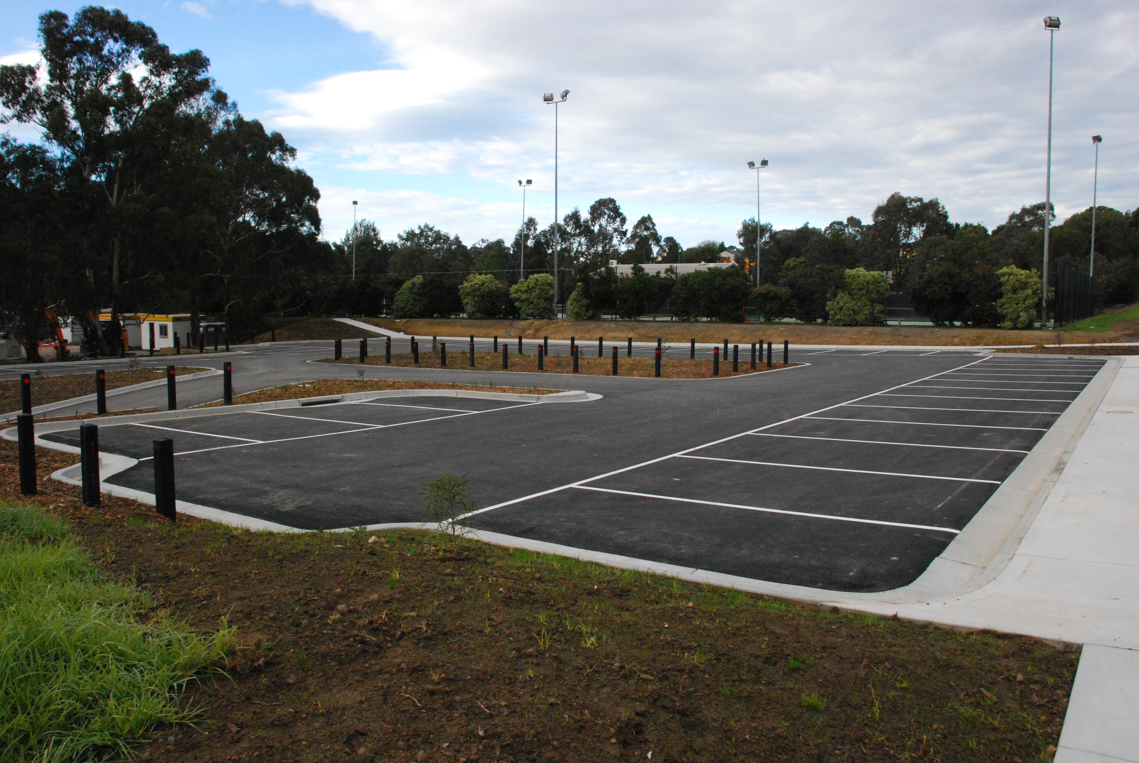 New car parking area