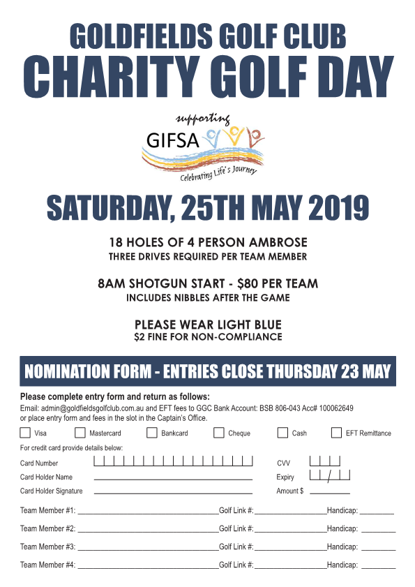 Charity day nomination form 2019