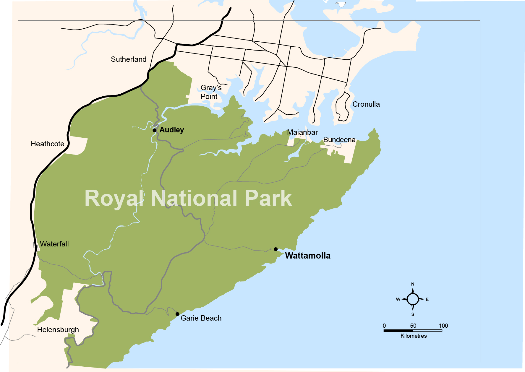 Royal National Park Map Planning for visitors | Have your say on NSW environment and heritage