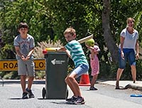 Street cricket play streets small