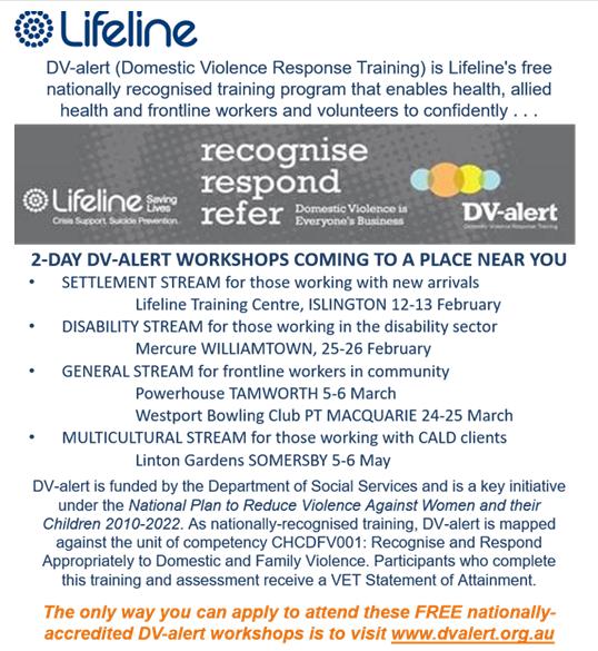 Lifeline training dv