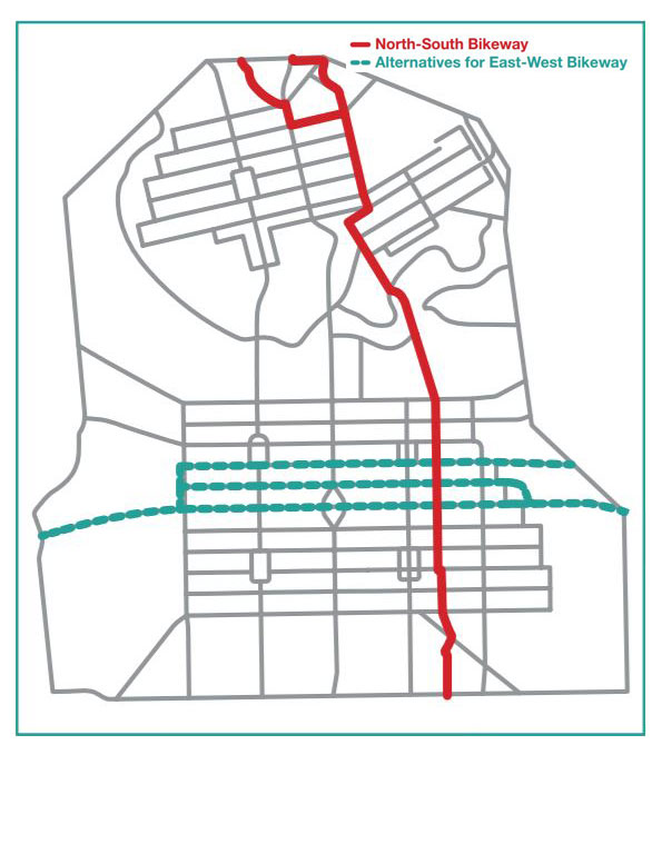 Proposed Bikeways routes