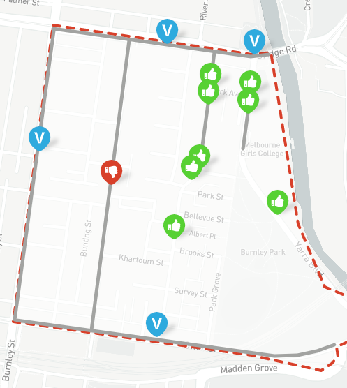 Richmond Traffic Map.Taking It To The Streets Richmond Your Say Yarra
