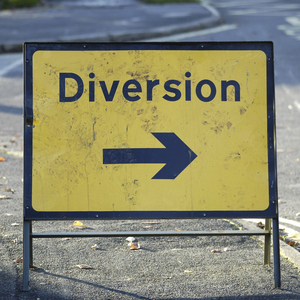 Diversion sign cropped