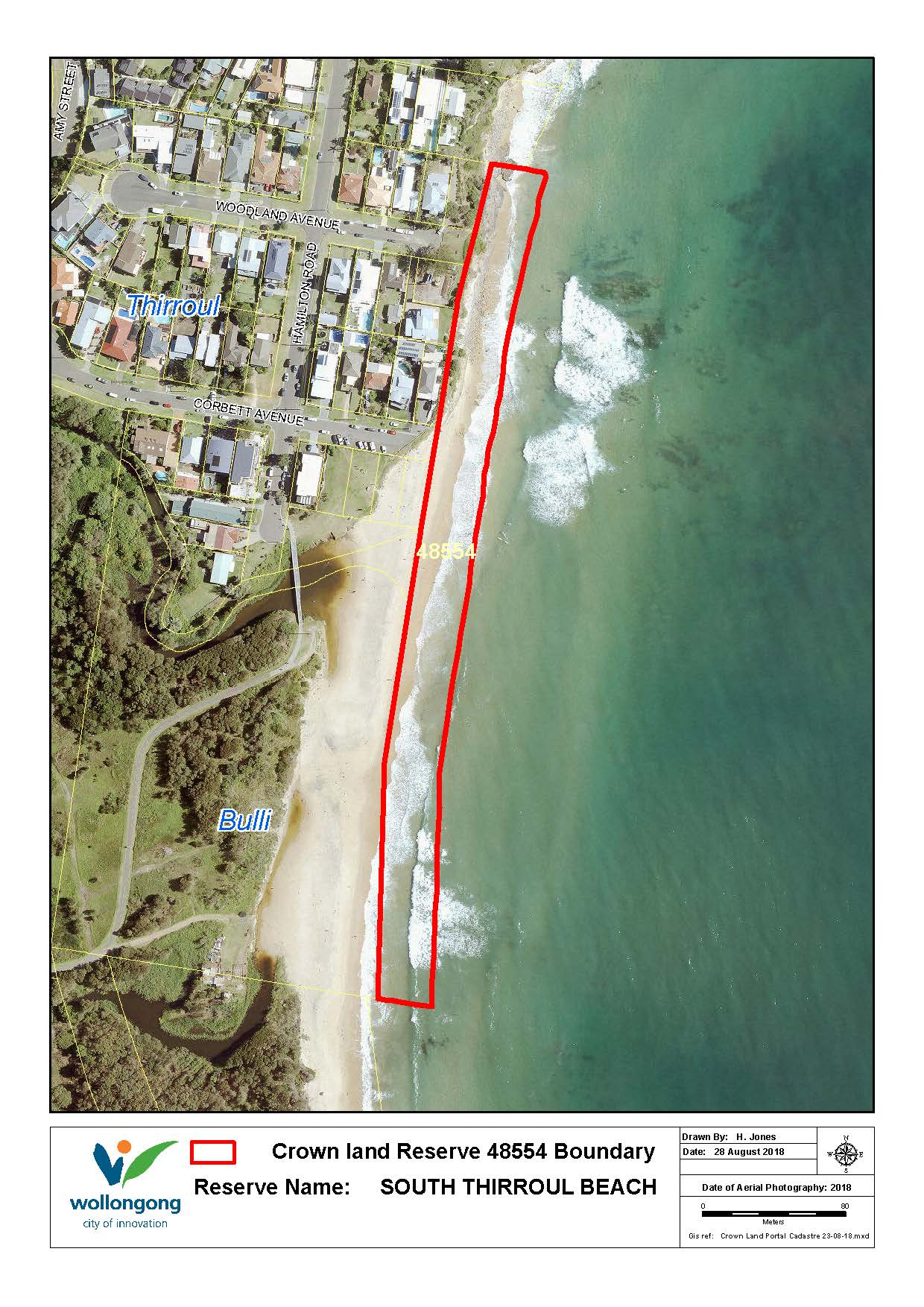 South thirroul beach reserve 48554  map z19 91178