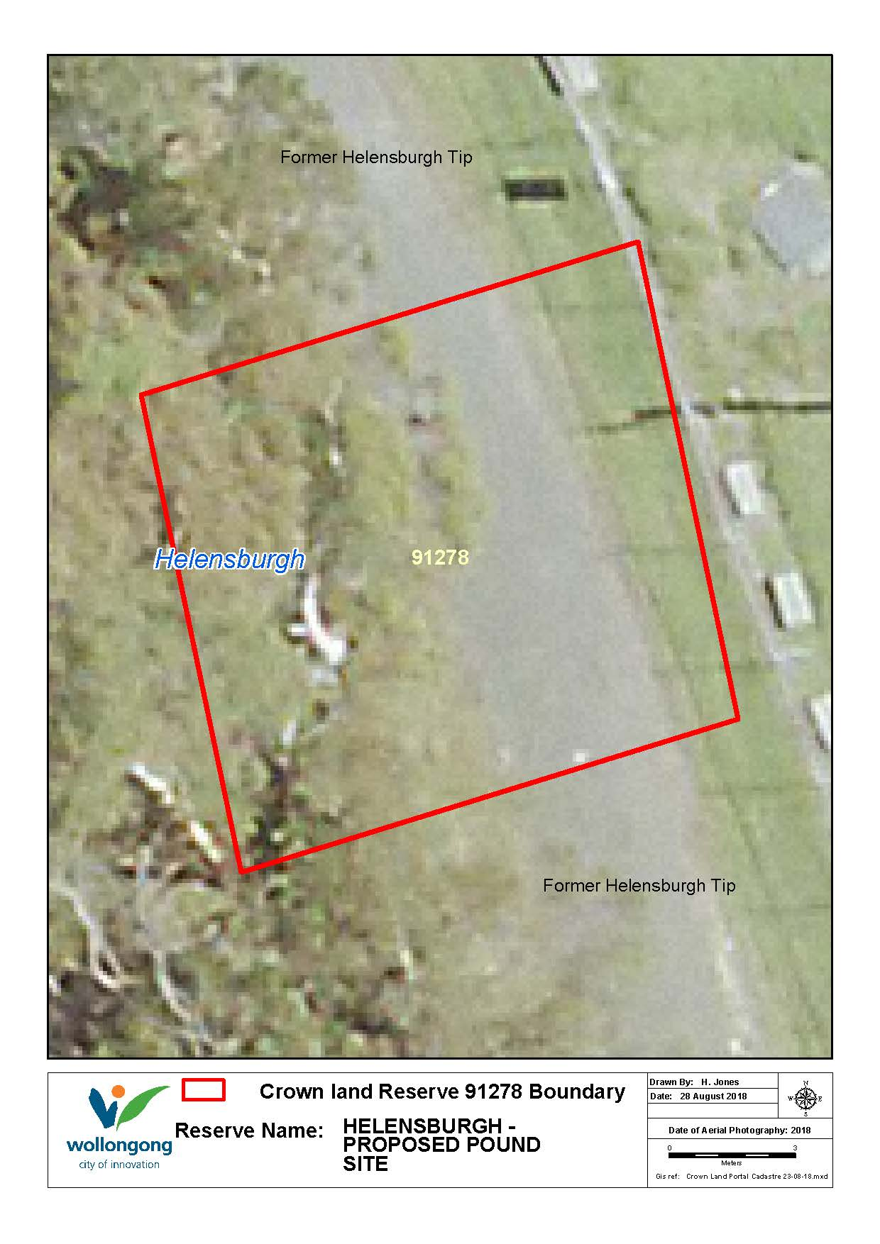 Helensburgh proposed pound site reserve 91278 map surrouned by former tip z19 169109