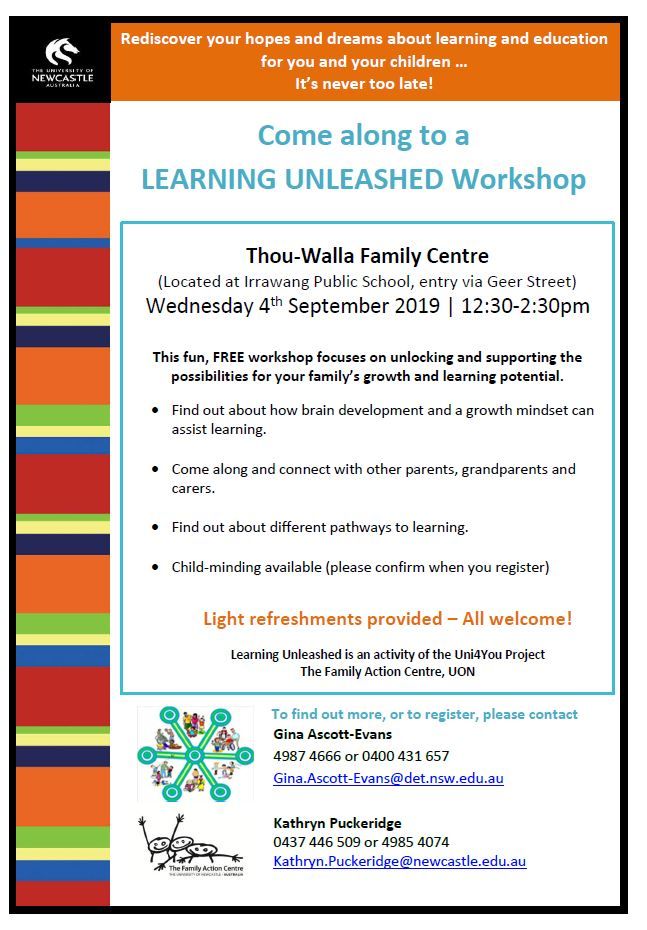 Uni4you learning unleashed workshop raymond terrace