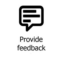 provide feedback