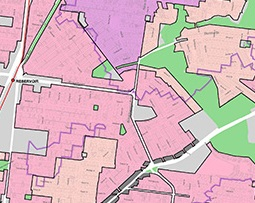 Proposed residential zones municipal map