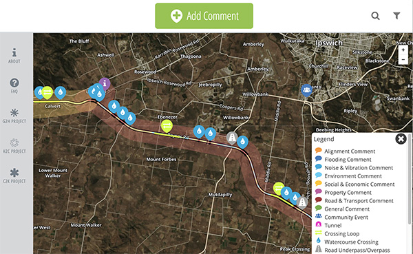 Interactive project map