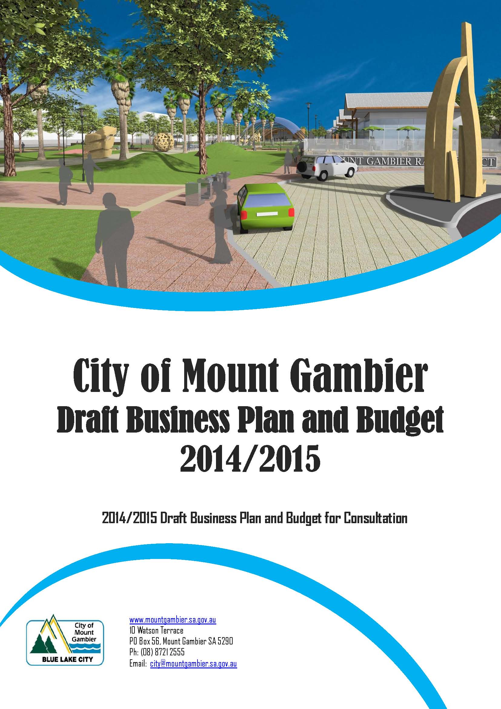 Draft business plan and budget for consultation cover 2014   2015