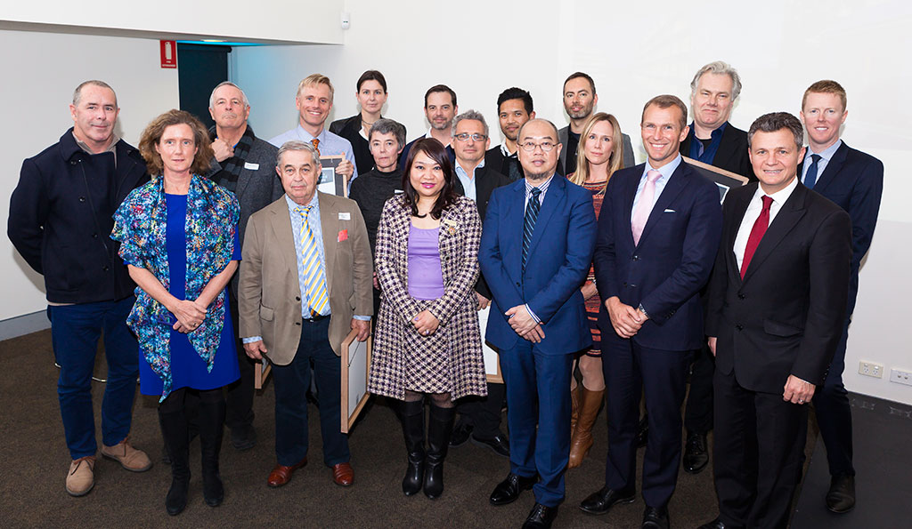 2015 Randwick Urban Design and Architecture Award Winners with judging panel, Randwick Mayor Ted Seng, Mayoress Shirley Chan, Federal Member for Kingsford-Smith Matt Thistlethwaite and Hon. Rob Stokes, Minister for Planning.