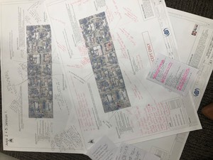 Maps from the information sessions
