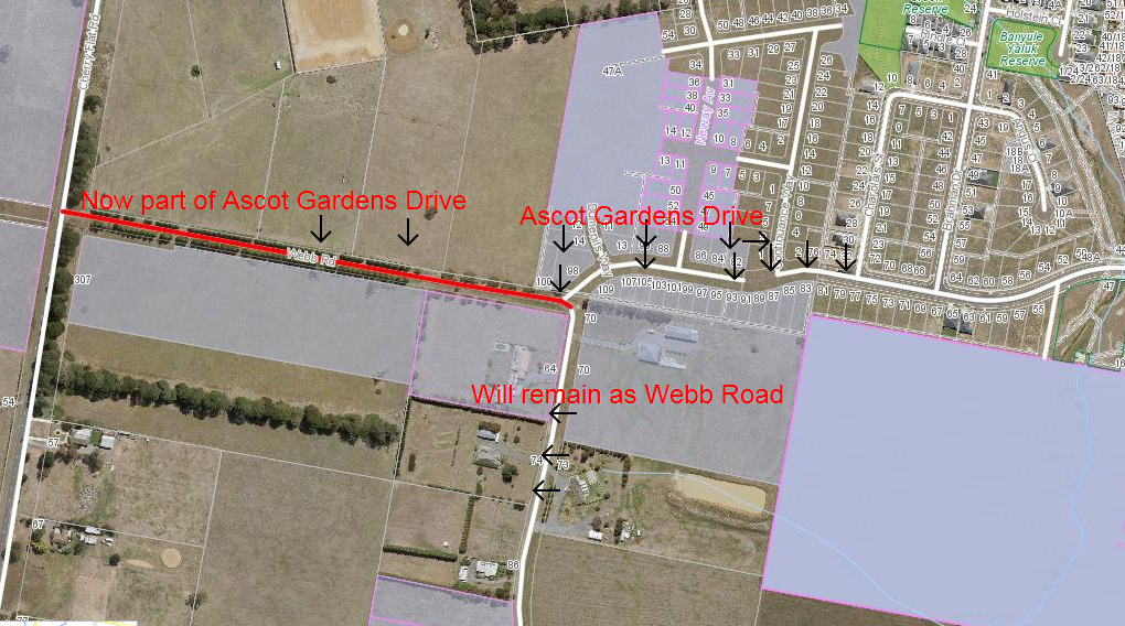 Satellite map of Ascot Gardens Drive