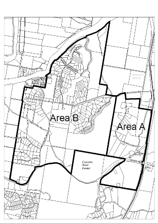 Map for meetings   areas a   b black and white