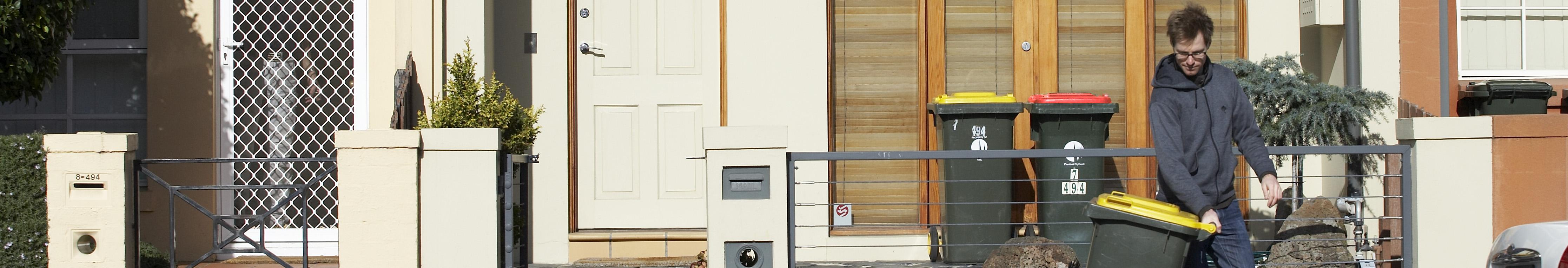 Househould kerbside collection bins