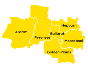 Map of the central highlands region