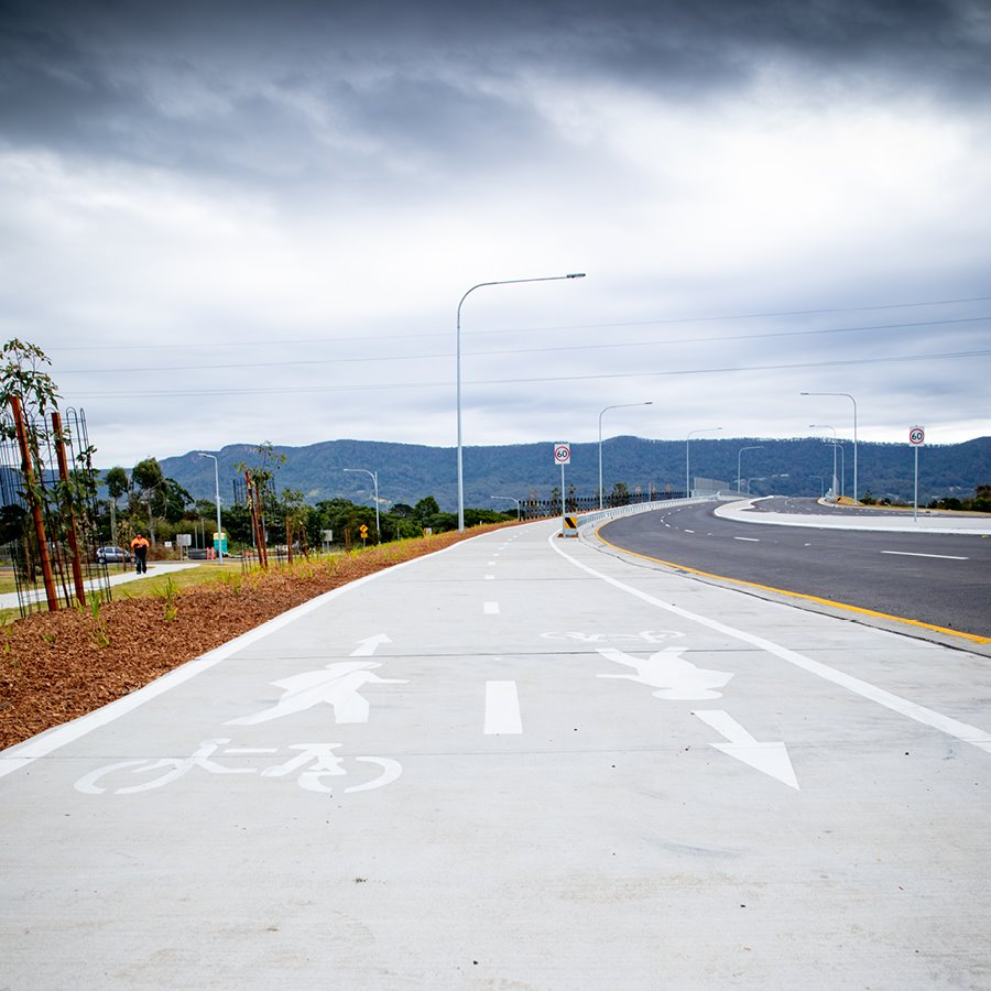 Image shows a shared pathway in Dapto.