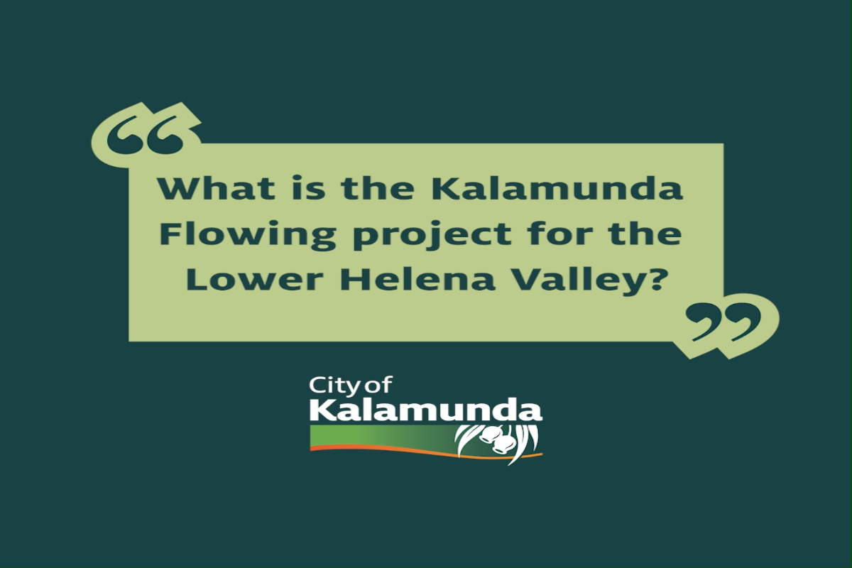 What is the Kalamunda Flowing project for the Lower Helena Valley?