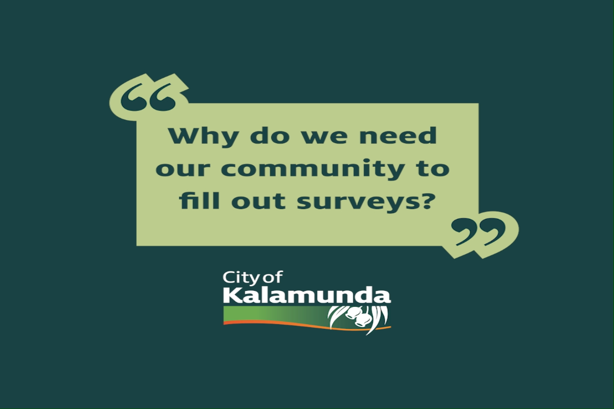 Why do we need our community to fill out surveys?