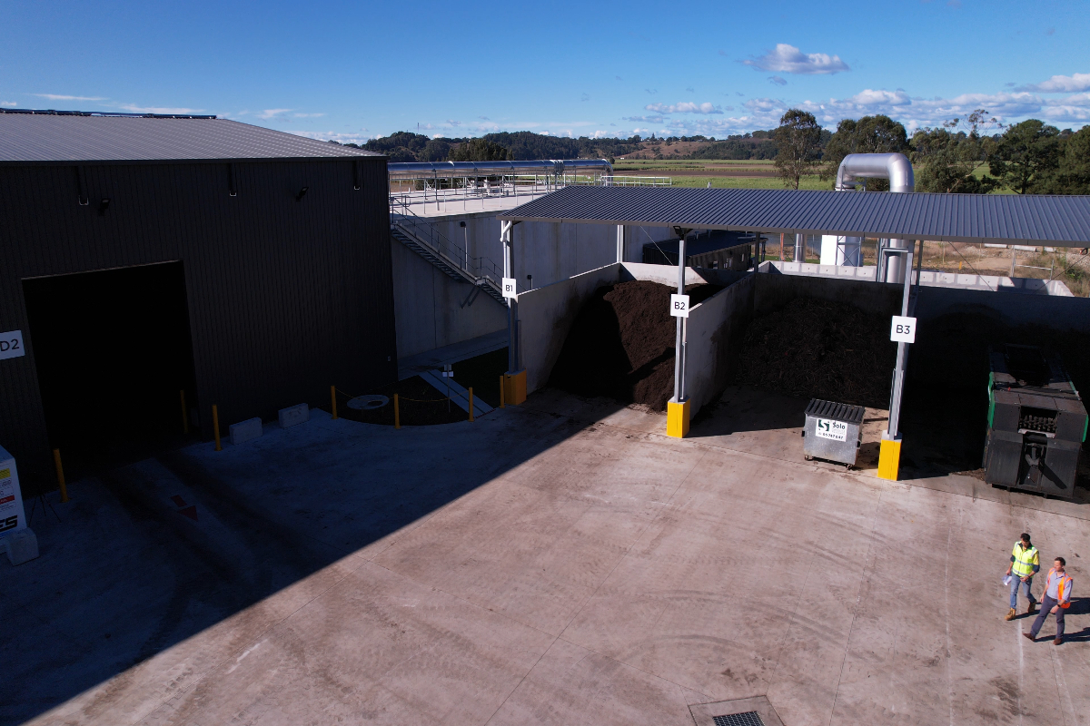 Drone footage of the Tweed Organics Processing Facility