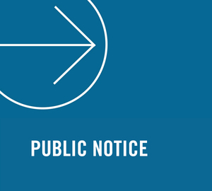 Public notice news image
