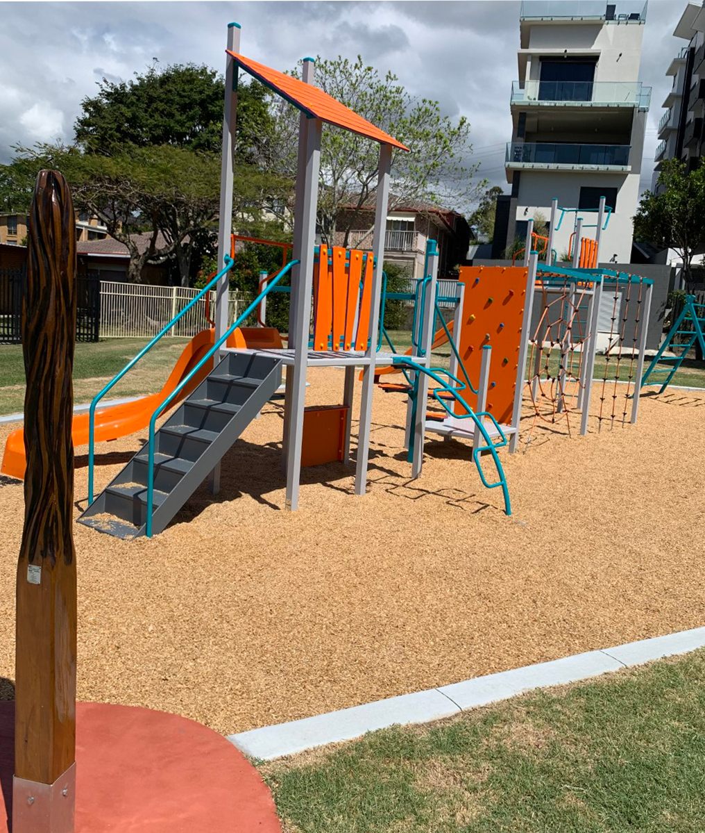 New Kids Outdoor Gym in Jack Chard Park, Tweed Heads.