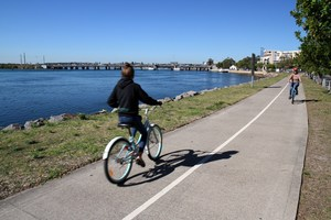 Swansea channel foreshore shared path