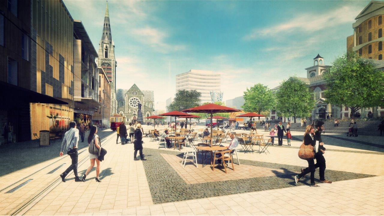 Artist's impression of the proposed Post Office Plaza.