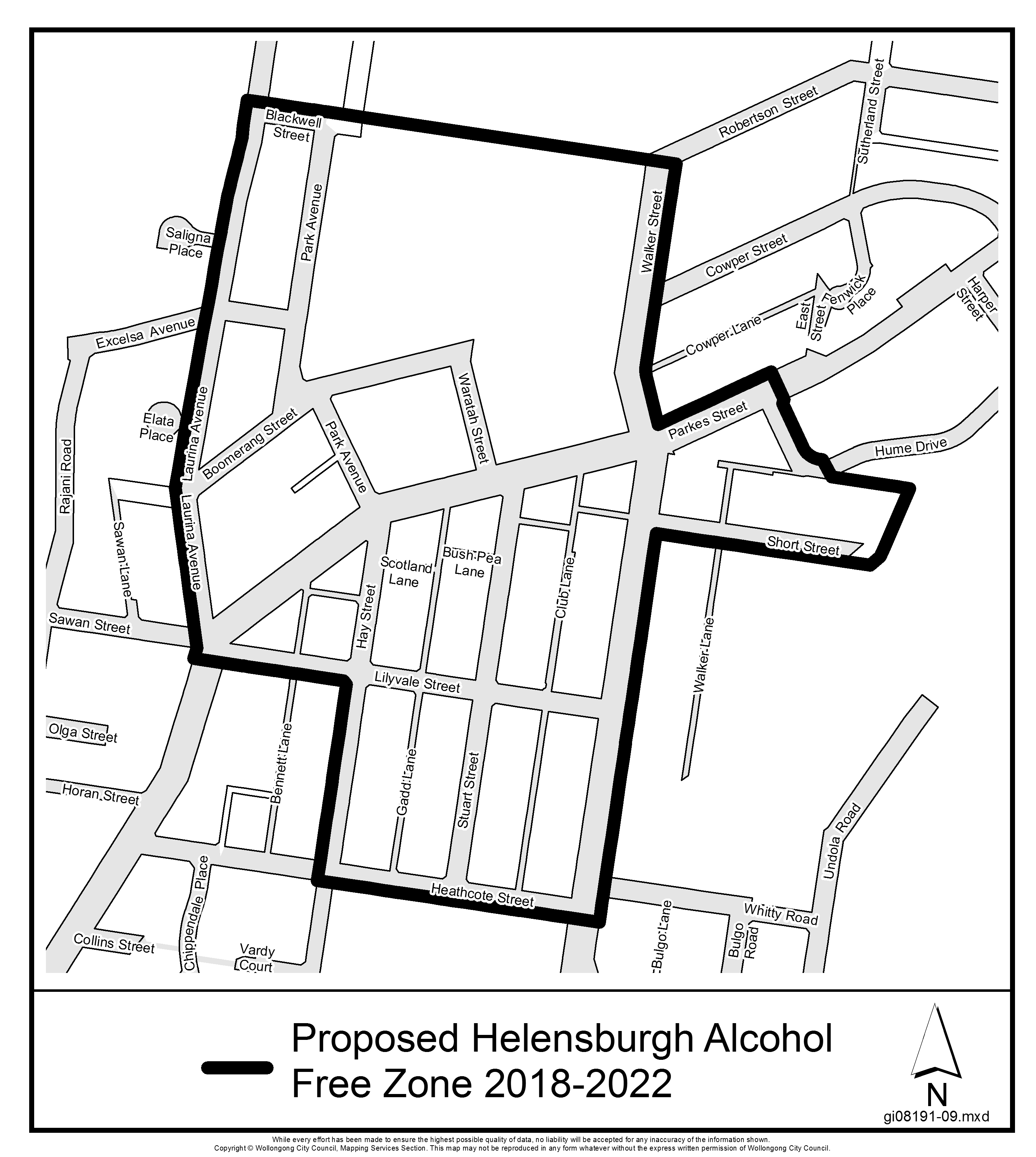 Proposed helensburgh alcohol free zone 2018 2022